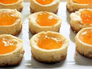Mini Cheesecakes with Peach Preserves