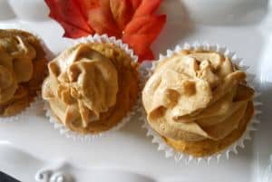 Pumpkin Cupcakes with Pumpkin Frosting