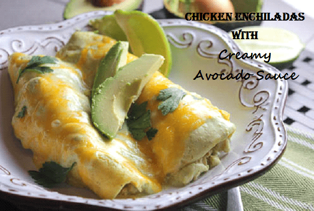 Chicken Enchilada's in Creamy Avocado Sauce