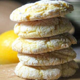 Lemon Crinkle Cookies – Made with Cake Mix!