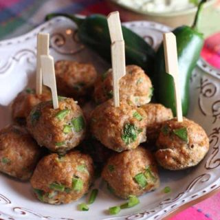Southwest Turkey Meatballs with Creamy Avocado Dip