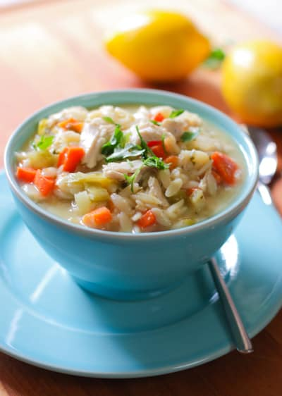 Lemon Chicken Orzo Soup1