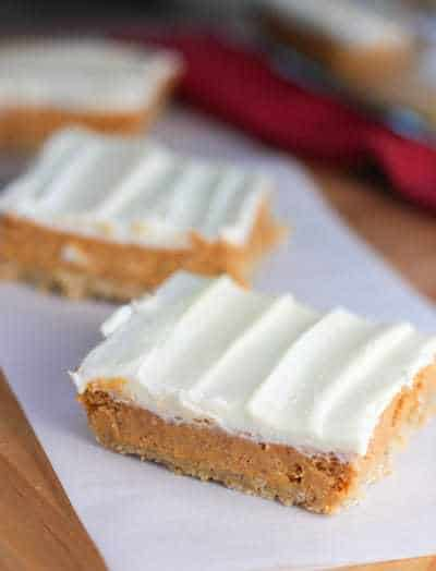 ... Pumpkin Cheese Cake Bars. Cheesecake with frosting on it….how can