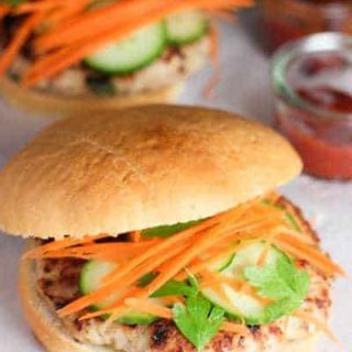 Thai Chicken Burgers with Kicked up Ketchup!