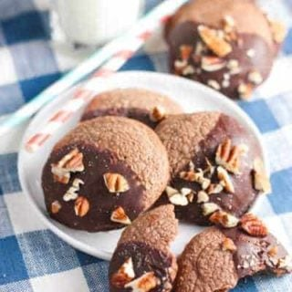 Chocolate Dipped Nutella Cookies