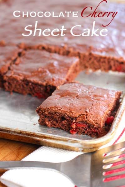 Chocolate Cherry Sheet Cake3