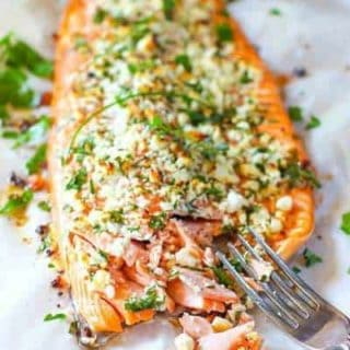 Feta and Herb Crusted Salmon