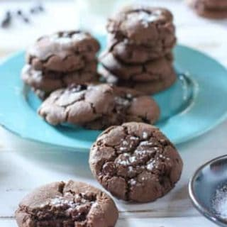 Double Chocolate Cookies with Sea Salt