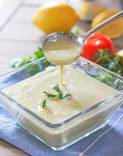 3 Minute Lemon Garlic Vinaigrette
