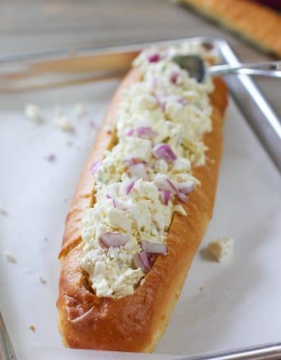 Artichoke Bread unbaked