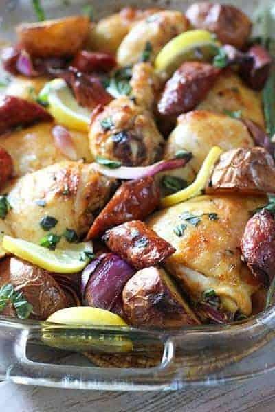 Chicken Sausage BakeHero1