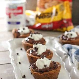 Chocolate Cream Pie Cookie Cups