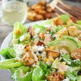 Chipotle Caesar Salad with Spicy Croutons