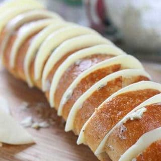 Cheesy Stuffed Garlic French Bread