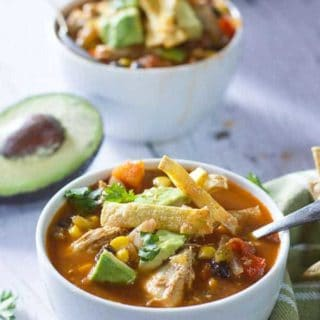 Skinny Chicken Taco Soup!