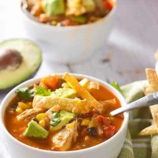 Skinny Chicken Taco Soup!