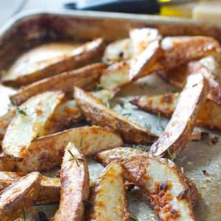 Baked Parmesan and Garlic Potato Wedges