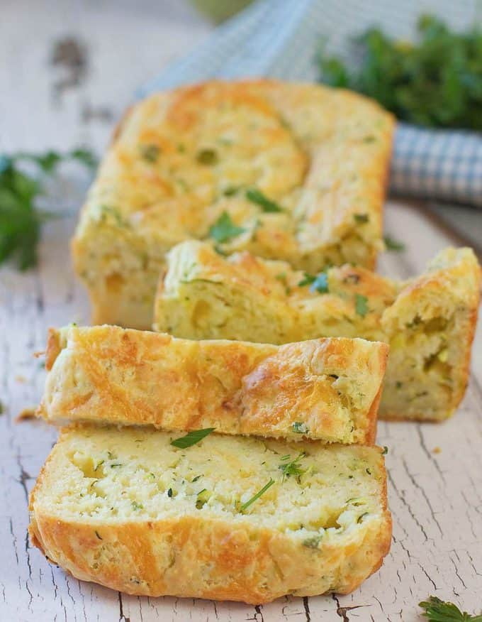 Savory Zucchini Cheese Bread