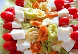 Tortellini and Fresh Mozzerella Kabobs