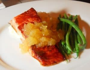 salmon and pineapple salsa