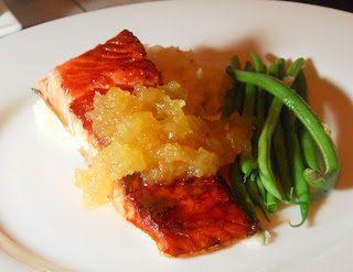 Sugar Seared Salmon with Pineapple Salsa