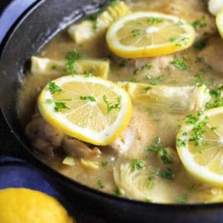 One Pan Lemon Chicken with Artichokes