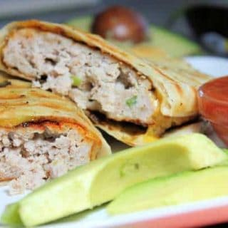 Turkey Quesadilla Burgers