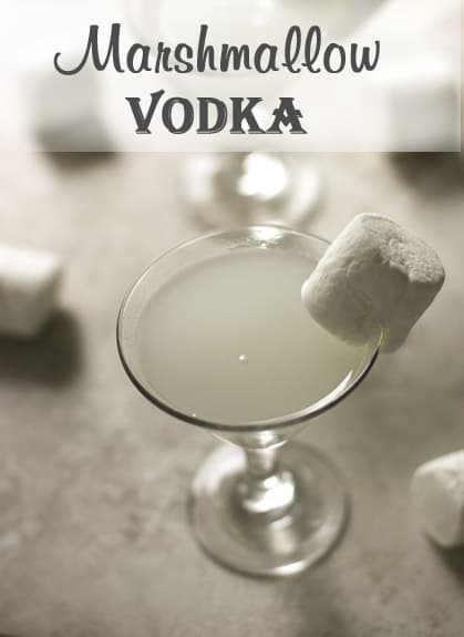Marshmallow vodka in a martini glass