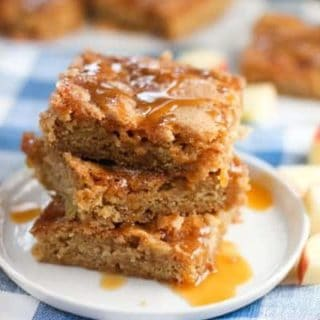 One Bowl Cinnamon Apple Bars