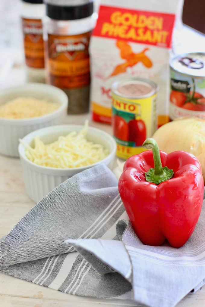 ingredients to make polenta pie