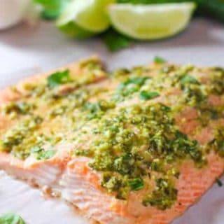 Lime and Garlic Salmon