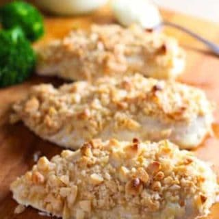 Baked Macadamia Nut Crusted Chicken
