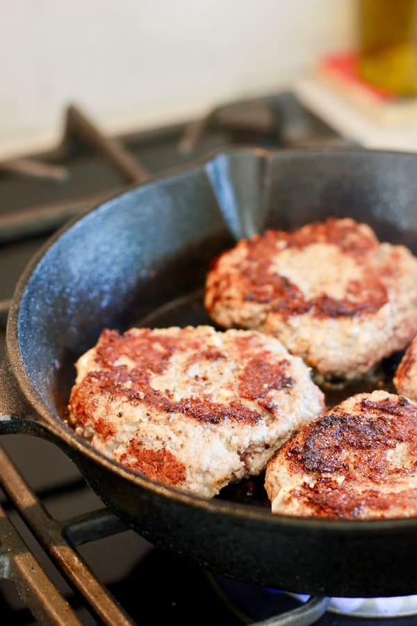 perfectly browned beef patties