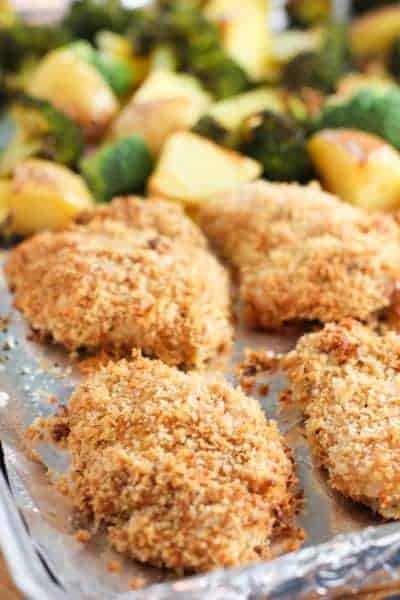 Crispy Chicken Sheet Pan Dinner | Laughing Spatula