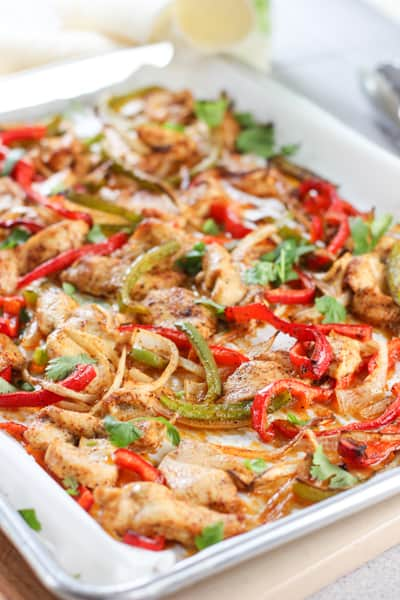 21 fast and fresh whole 30 recipes laughing spatula chicken sheet pan fajitas forumfinder Choice Image