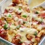 Eggs Benedict Casserole with Hollandaise