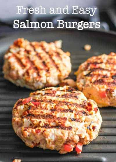Salmon Burgers Grilling