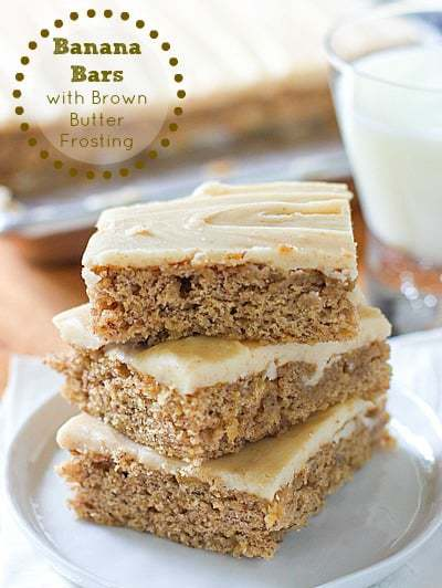 Banana Bars stacked up