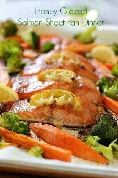 Salmon Sheet Pan Dinner with broccoli and sweet potatoes