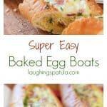 Super Easy Baked Egg Boats
