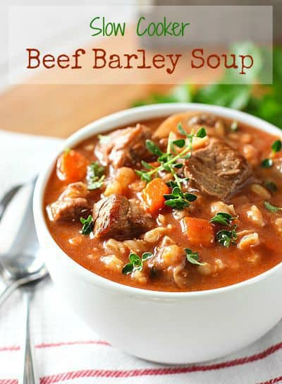 Slow Cooker Beef Barely Soup