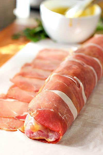Prosciutto Wrapped Pork Tenderloin