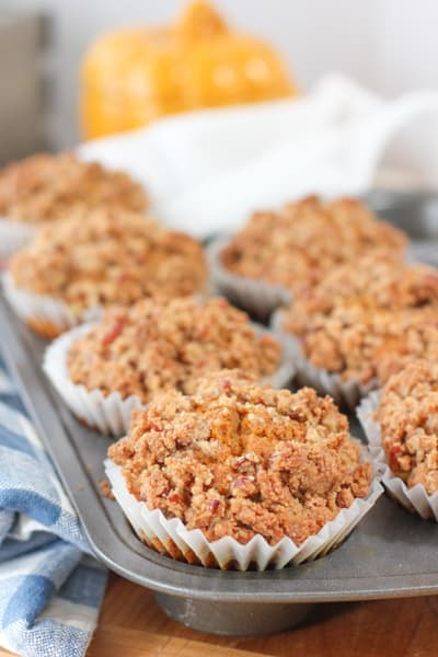 Baked and ready to eat Pecan Crunch Muffins