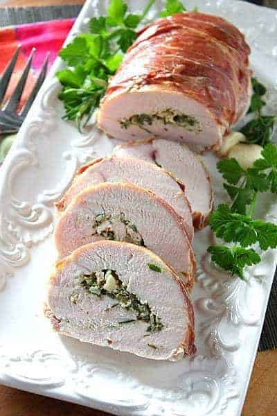 Herb Stuffed Turkey Breast Wrapped in Prosciutto