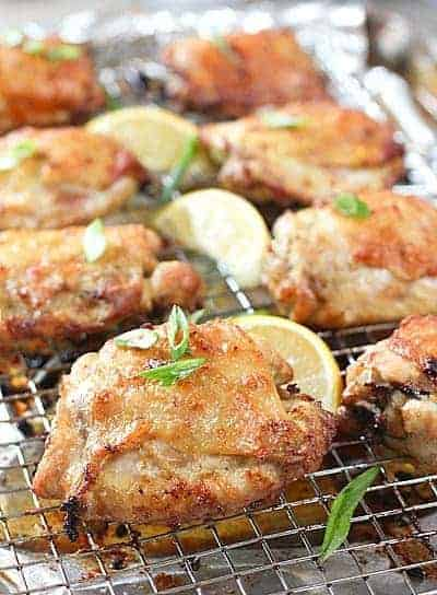 Baked Crispy Chicken Thighs