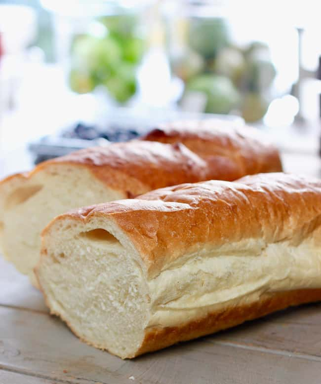 French bread for the casserole