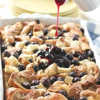 Blueberry & Cream Cheese French Toast Casserole