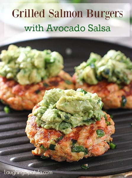 Grilled salmon burgers with avocado salsa laughing spatula ccuart Gallery