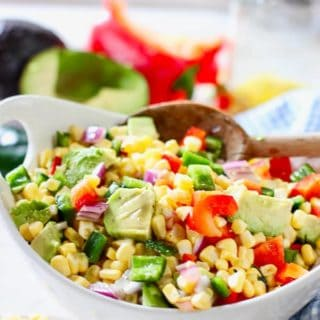 fresh corn salad with avocado