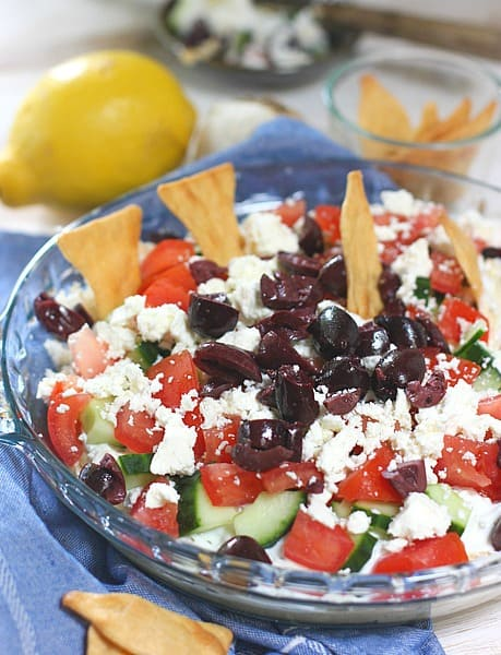 Greek Dip served in a bowl